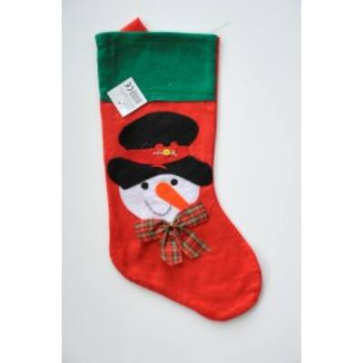 Csomag Karácsonyi csizma Hóember piros